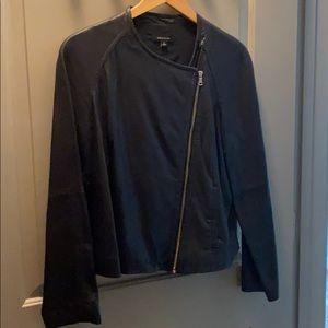 Dark Navy leather jacket